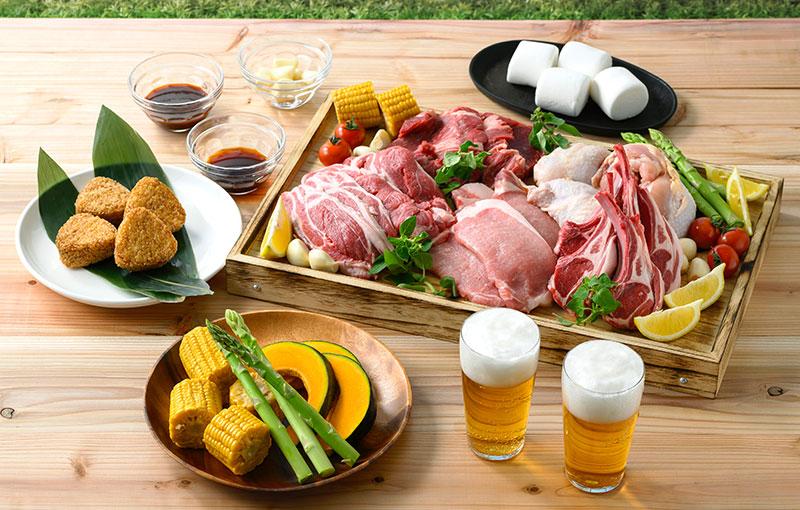 【牡蠣食べ放題付】アワビとお肉のBBQプラン